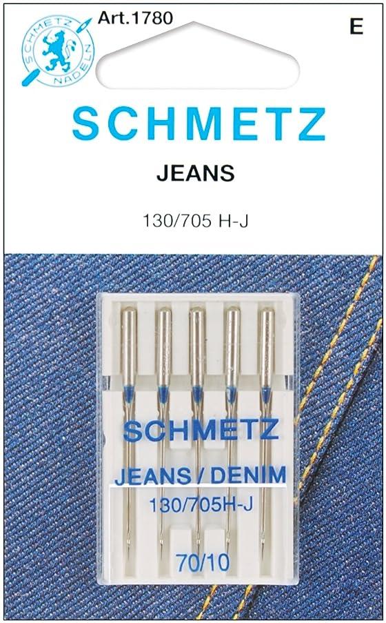 Euro-Notions Schmetz Jean & Denim Machine Needles, Size 10/70 5/Pkg