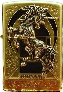 Zippo Lighter Genuine Design Unicorn Gold Emblem