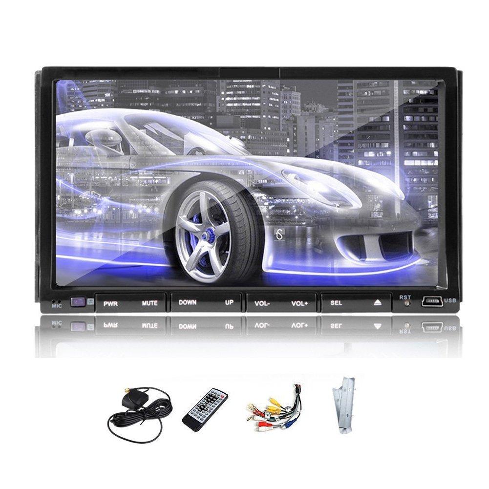 Free Reverse - Navegación Doble DIN GPS para Reproductor de DVD Universal de Coche, Reproductor de DVD