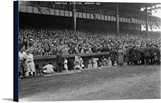 Yankee Stadium Baseball Field Opening Day Photograph (18x12 Gallery Wrapped Stretched Canvas)