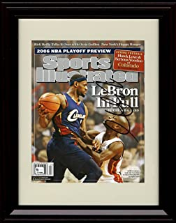 Framed LeBron James Sports Illustrated Autograph Replica Print - Cleveland Cavaliers