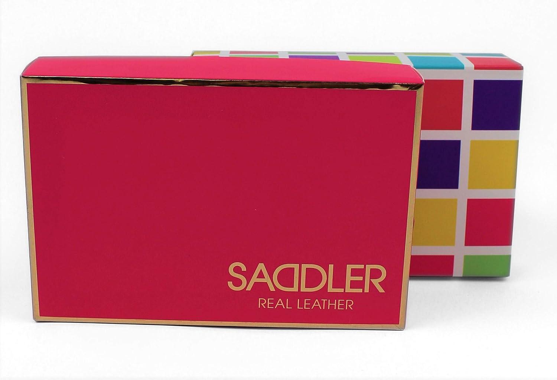 SADDLER East West Kreditkartenetui mit 12 Faechern und sicherem Verschluss Blaugr/ünes Blau