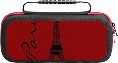 $26 » Eiffel Tower Paris Red Case Compatible with Switch Case Protective Carry Bag Hard Shell Storage Bag Portable Travel Case f...