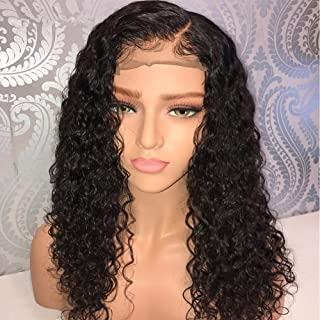 Newa Hair 360 Lace Frontal Wig 250% Density 360 Lace Wig Curly Human Hair Wig Pre Plucked with Baby Hair for Black Women(22inch)