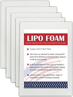 5 Pack Lipo Foam Pads for Post Surgery Ab Board...