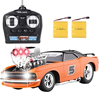 RC Car, High Speed Off Road Hobby Car Crawler, 2.4G Boys RC Controlled Car Large Size 1:18 Electronic Racing Vehicle Truck for Kids Girls Teens and Adults with Two Rechargeable Batteries