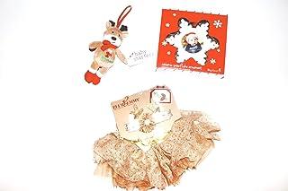 Elly & Emmy Baby Girl's First Christmas Tutu Reindeer Bundle