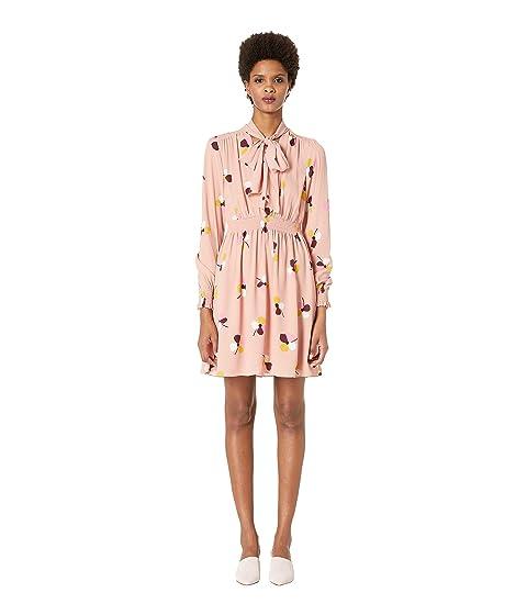 Kate Spade New York Glitzy Ritzy Dusk Buds Print Mix Dress