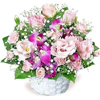 【誕生日フラワーギフト】トルコキキョウとデンファレのアレンジメント ya00-511587 花キューピット 花 誕生日 お祝い 記念日 プレゼント 生花 祝花 妻 夫 父親 母親 彼女 彼氏 友達