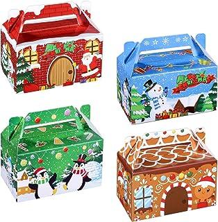 Hemoton 24 Pièces Boîtes à Gâteries de Noël 3D Maison de Noël en Carton Boîtes à Cadeaux de Vacances Boîte à Bonbons Goodi...