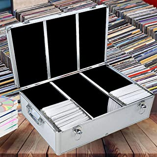 500 Discs Aluminium CD DVD Cases Bluray Lock Storage Box Organizer Free Inserts 500 Discs