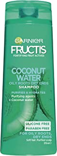Garnier Fructis Coconut Water Shampoo For Oily Roots Dry Ends 315ml