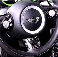 BAR Autotech Decorative Carbon Fiber Steering Wheel Covers for Mini Cooper R56 S Sport Type JCW