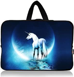 AUPET White Unicorn Universal 7~8 inch Tablet Portable Neoprene Zipper Carrying Sleeve Case Bag