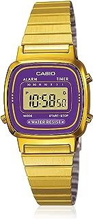 #LA670WGA-6 Women's Gold Tone Chronograph Alarm LCD Digital Watch
