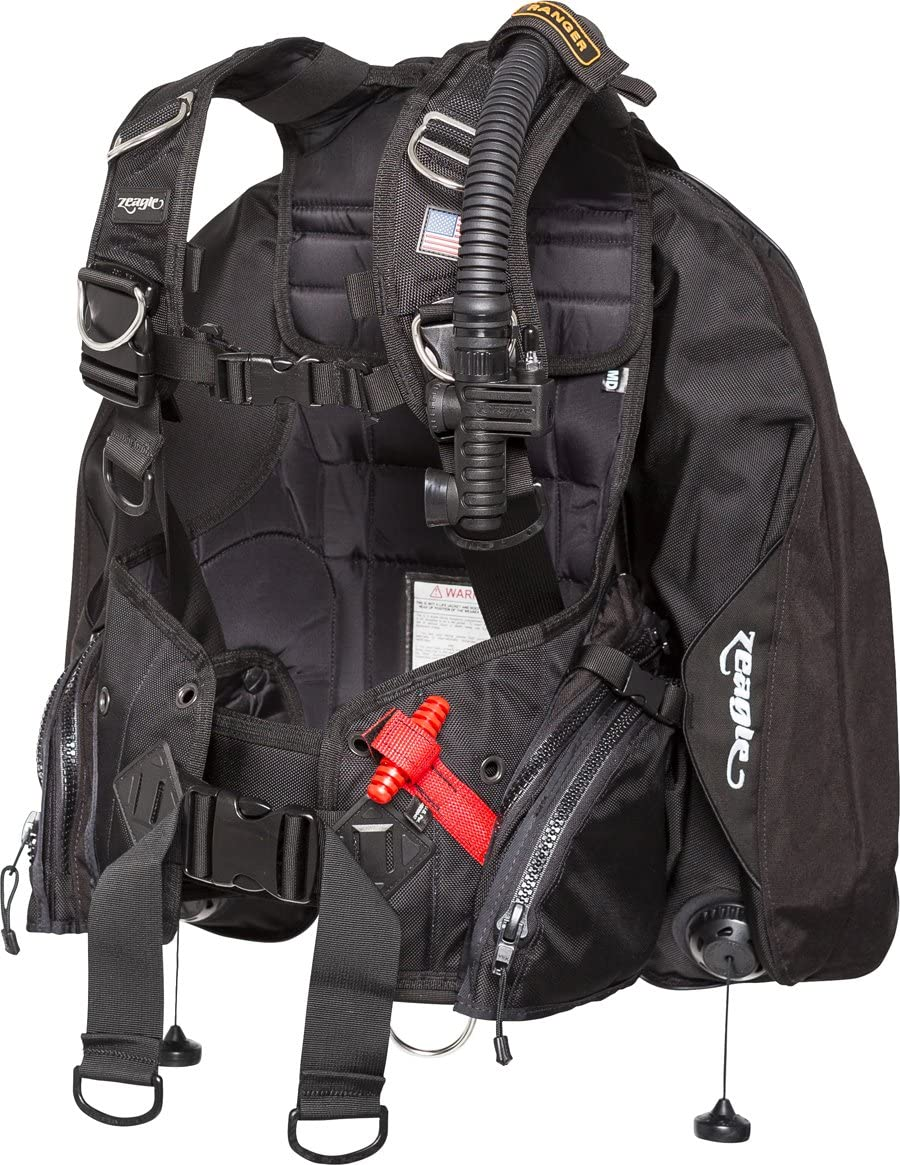 Zeagle Ranger BCD with Ripcord San Francisco Popular brand in the world Mall and Scuba BC Weights Rear Systems