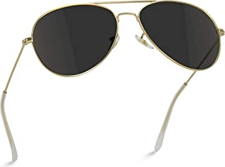Polarized Metal Frame Pilot Style Aviator Sunglasses