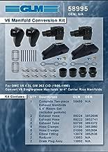 Omc Cobra V-6 4.3 4.3L Exhaust Manifold Conversion kit. GLM Part Number: 58995 OMC Part Number: 984221 984222