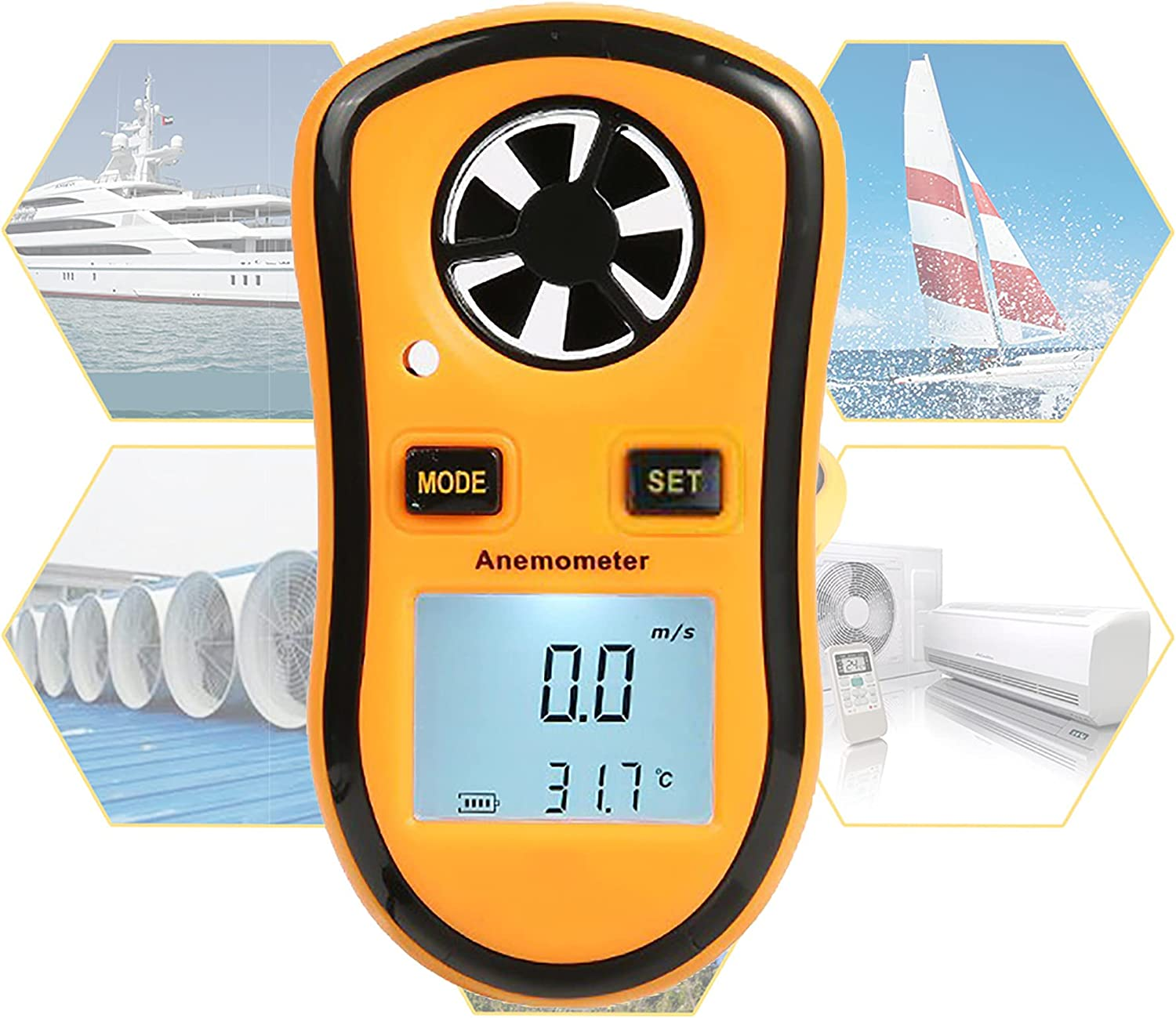Free shipping New XLanY Portable Handheld Anemometer Ranking TOP2 Digital LCD S Backlight Wind