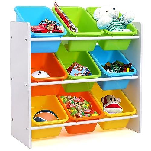 Homfa Estantería Infantil para Juguetes Libros Organizador Infantil de Juguetes Almacenamiento Juguetes con 9 Cajones 65
