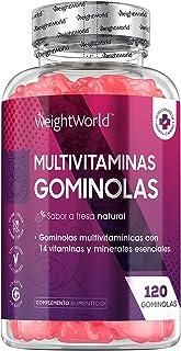 Gominolas Multivitaminas y Minerales de Alta Potencia 120 Unidades - Con 14 Vitaminas y Minerales Activos, Con Vitamina C,...