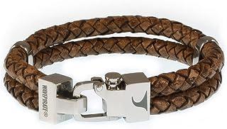 WAVEPIRATE Echt Leder-Armband Turn F Cognac Herrenarmband Männer