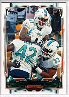2014 Topps Football #94 Miami Dolphins Miami Dolphins Team Card Official NFL Trading Card