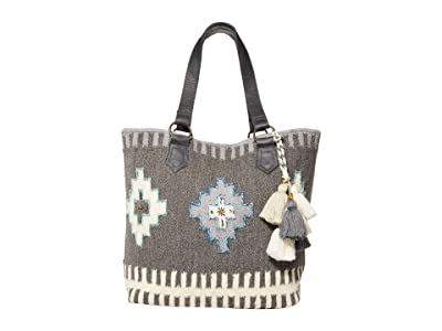 Scully Cassandra Woven Tote w/ Tassel Accent (Brown/Natural) Handbags