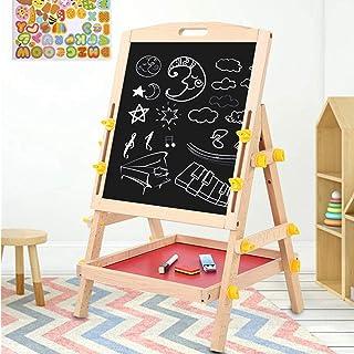 Ausla Planche à Dessin Double Face pour Enfants,Chevalet de Dessin Portable Réglable en Hauteur,Tableau de Peinture Debout...