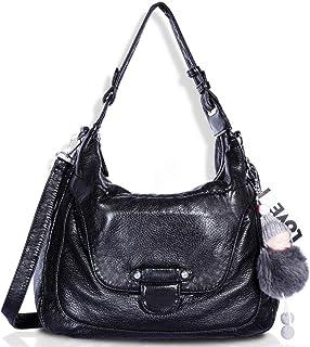 Angel Barcelo Womens Fashion Handbags Top-Handle Shoulder Bags Leather Tote Bags Cross body Purse
