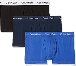 Calvin Klein Underwear Men's Hip Trunks Pack of 3 - Cotton Stretch
