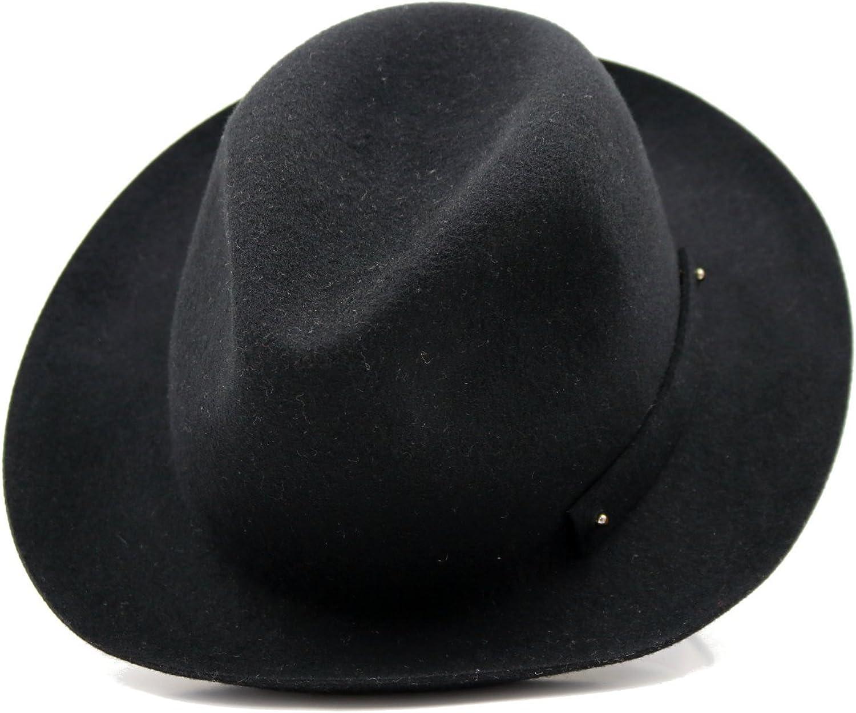 Women's Winter Wide Brim 100% Wool Material Foldable Felt Hat