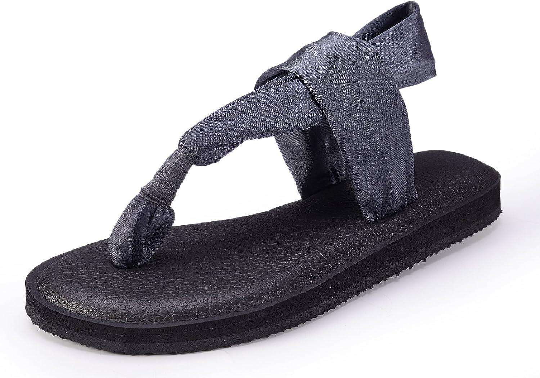 UKRIS Women's Lightweight Yoga Slingback Flip Flop(6 US 38,Grey)