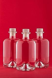 6 bouteilles en verre vides 500 ml APO SPI bouteilles de jus de pharmacie bouteilles de 0,5 litres de bouteilles d'huile b...
