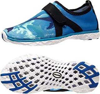 AMAWEI Boys Girls Water Shoes Lightweight Sole Sports Shoes Slip-on Quick Dry Aqua Athletic Sneakers Swim Beach Shoes(Todd...