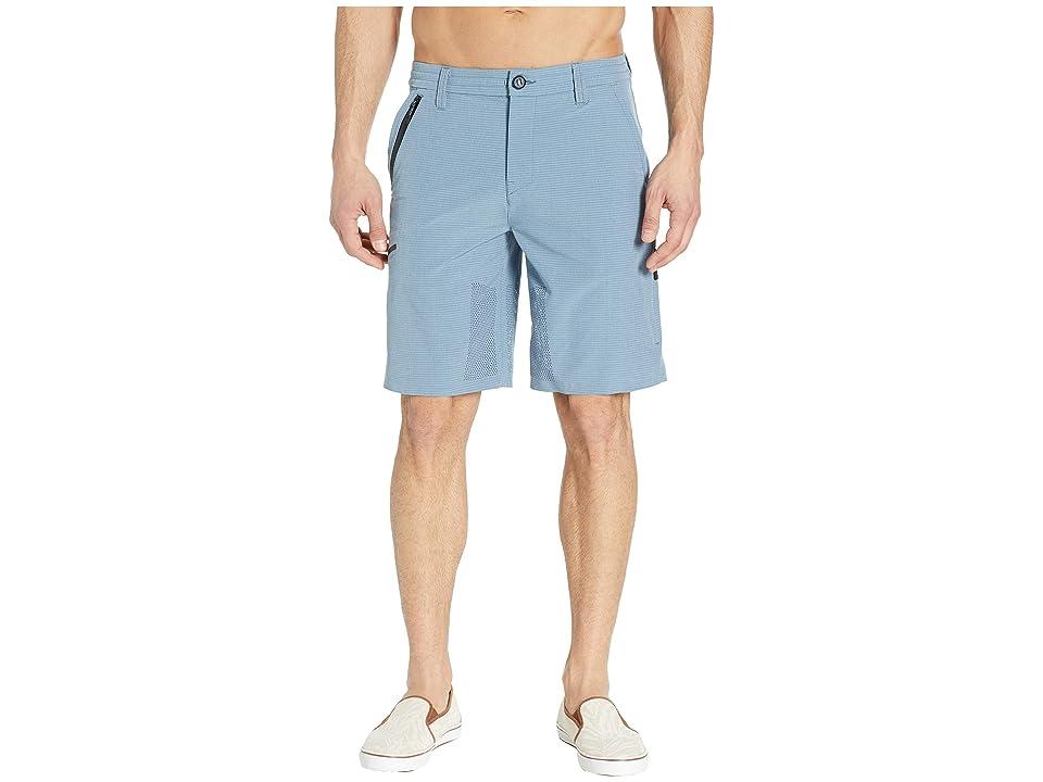 Rip Curl Global Entry Evolution Walkshorts (Blue/Grey) Men
