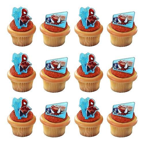 Pleasant Spider Man Cupcakes Amazon Com Funny Birthday Cards Online Alyptdamsfinfo