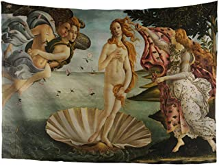 World Classic Art Masterpiece Tapestry Series Sandro Botticelli The Birth of Venus 1484–86. Classical Art Tapestry Antique Vintage Collection Home Décor
