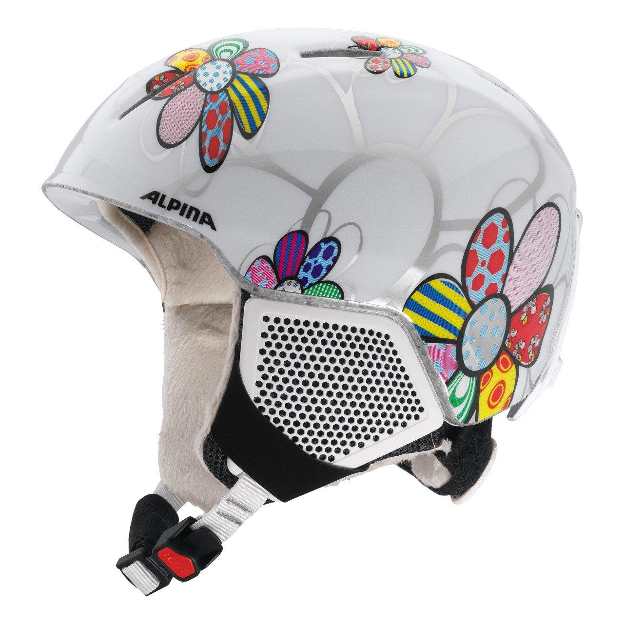ALPINA Unisex - Kinder, CARAT LX Skihelm, patchwork-flower, 54-58 cm