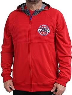 Detroit Pistons 2016 NBA Men's On-Court Pre-Game Full Zip Hooded Jacket