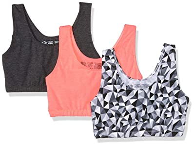 Fruit Of The Loom Built-up Sports Bra 3 Pack