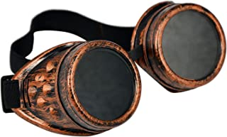 Cyber Goggles Steampunk Welding Goth Cosplay Vintage Goggles Rustic Copper