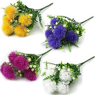 Artificial Flower Plastic False Plants False Shrub Bunch Table Flower Home Kitchen Office Decor Spring Windowsill False Fl...