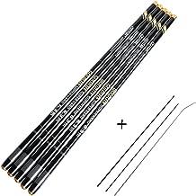Goture 1 Piece Carp Fishing Pole, Carbon Fiber Ultralight Telescopic Fishing Rod 10FT 12FT 15FT 18FT 21FT 24 FT+ Free Tip Set(Top 3 Segments)