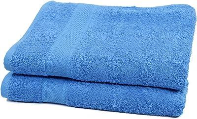Maspar 2 Piece 420 GSM Cotton Bath Towel Set, Large - Blue