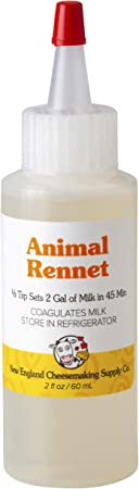 Liquid Rennet - Animal Rennet for Cheese Making (2 oz.)