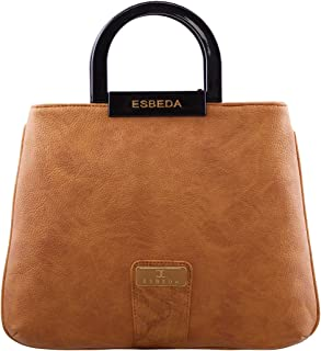 ESBEDA Camel Solid Pu Synthetic Fabric Armbag For Women
