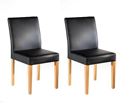 Marque Amazon -Alkove Hayes - Lot de 2 chaises de salle à manger, 47x45,4x92cm, C-ur de hêtre