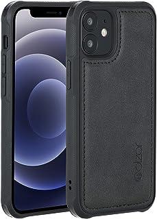 Molzar MAG Series iPhone 12 Mini Hülle, integrierte Metallplatte für magnetische KFZ Handyhalterung, unterstützt Qi Wireless Charging, kompatibel mit iPhone 12 Mini, Schwarz