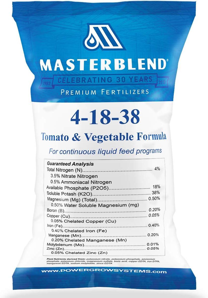 MasterBlend Max 63% OFF 4-18-38 Tomato Vegetable Fertilizer or 5 Direct store Bulk - 1